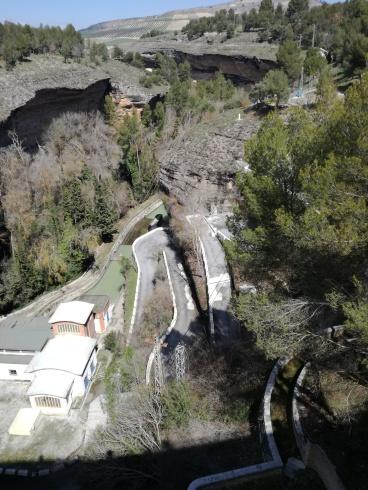 Pantano de los Bermejales. Granada. Central hidroeléctrica e inicio del Tajo. Foto: Francisco López