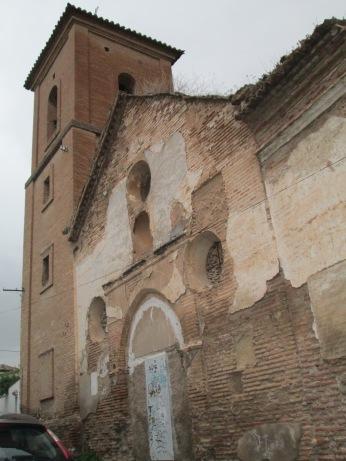 Iglesia de San Luis de los Franceses en ruinas. Albaicín. Foto: Francisco López