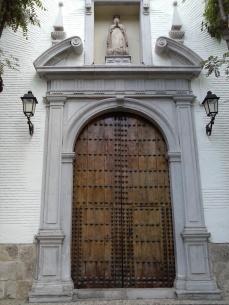 Portada barroca. Iglesia del Monasterio de la Concepción. Albaicín. Foto: Francisco López