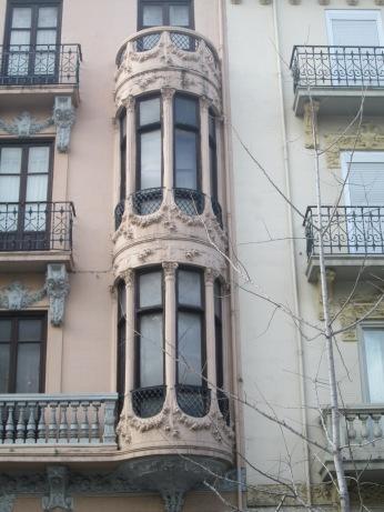 Balcones modernistas. Gran Vía. Granada.Foto: Francisco López