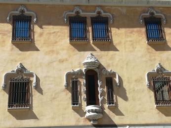 Convento - Hotel de Santa Paula. Detalle de la fachad.a Granada. Foto: Francisco López