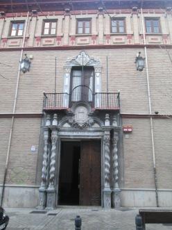 Portada del Palacio Ansoti. Granada. Foto: Francisco López