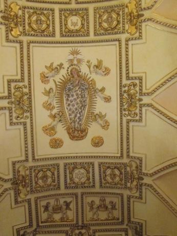 Paraninfo de Derecho. Bóveda. Inmaculada. Granada. Foto: Francisco López