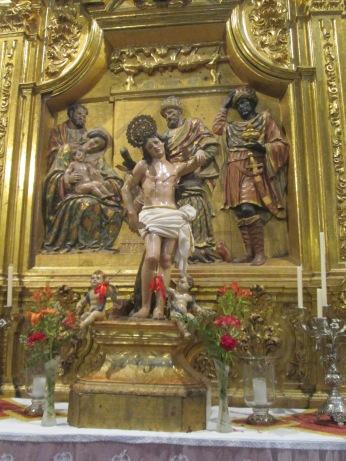 San Sebastián. Anónimo del XVI. IEl Sagrario. Foto: Francisco López