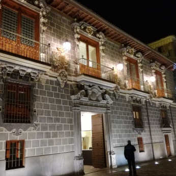 La Madrassa. Vista nocturna. Granada. Foto: Francisco López