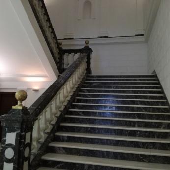 Escalera del Palacio de Bibataubín. Granada. Foto: Francisco López