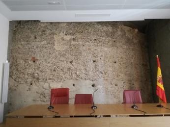 Lienzo de la antigua muralla. Palacio de Bibataubín. Foto: Francisco López