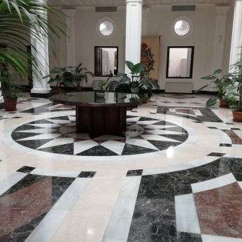 Suelo del patio. Palacio de Bibataubín. Foto: Francisco López