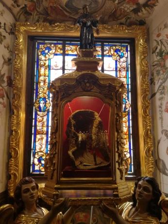 Capacha de San Juan de Dios. Camarín de San Juan de Dios. Foto: Francisco López