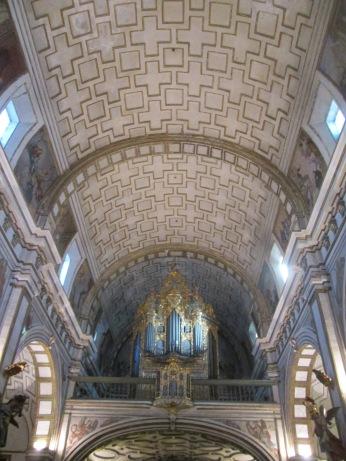 Bóveda, coro y órgano de San Justo y Pastor. Granada. Foto: Francisco López