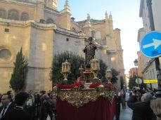 Procesión junto a la catedral. Foto: Francisco López