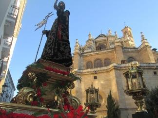 Procesión. Ábside de la catedral. Foto: Francisco López