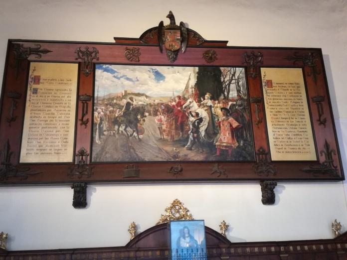Copia de la Rendición de Granada. Granada. Foto: Francisco López