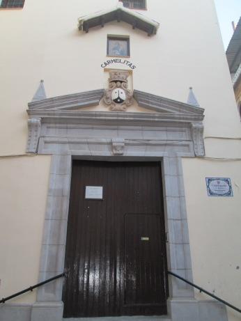 Puerta y escudo carmelitano. Carmelitas calzadas. Granada. Foto: Francisco López