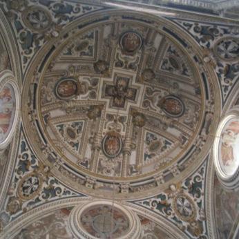 Bóveda de la escalera de Santa Cruz la Real. Granada. Foto: Francisco López