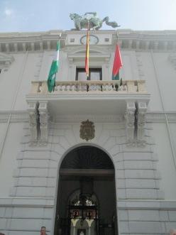 Portada del Ayuntamiento de Granada. Convento del Carmen. Foto: Francisco López