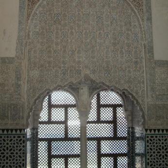 Ventana. Decoración policromada. Cuarto Real de Santo Domingo