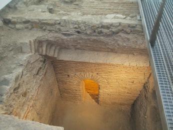Excavaciones de las zonas de servicio de la almunia