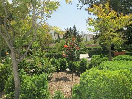 Jardines del Cuarto real de santo Domingo. Foto: Francisco López
