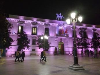 Vista de noche. Ayuntamiento de Granada. Foto: Francisco López