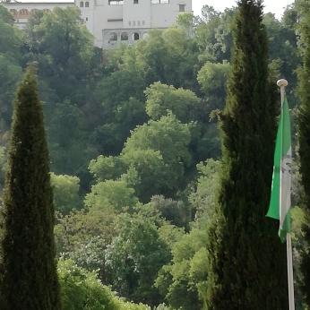 Vista del Generalife desde el Palacio de los Córdova. Granada