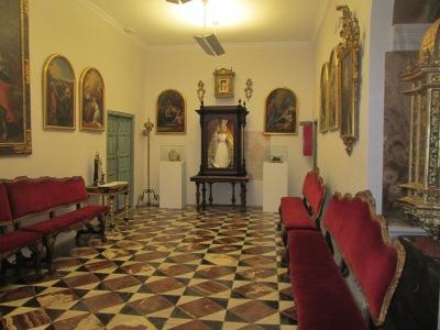 Camarín de la Virgen del Rosario.