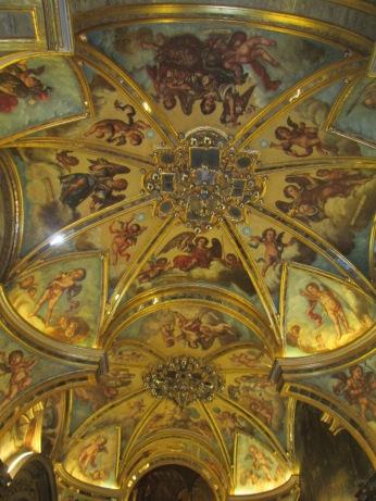 Camarín de la Virgen del Rosario. Bóveda de la Sala de Lepanto. Foto: Francisco López