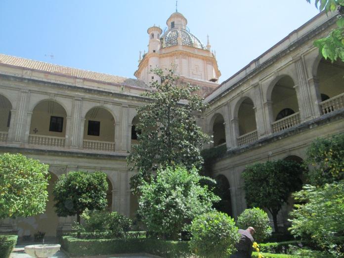 Claustro. Santa Cruz la Real. Granada. Foto: Francisco López