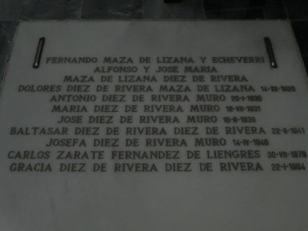 Enterramiento de la familia de los Marqueses de Casablanca. Foto: Francisco López