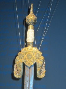 Sala nazarí. Réplica de la espada de Boabdil (detalle). Casa de los Tiros. Foto: Francisco López