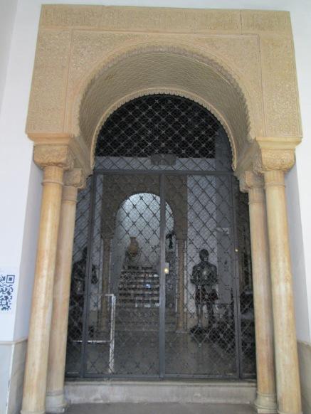 Entrada con columnas nazaríes. Palacio de Abrantes. Granada. Foto: Francisco López