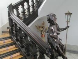 Escalera principal. Palacio de Abrantes. Granada. Foto: Francisco López