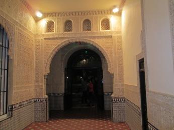 Carmen de los Mártires Puerta de acceso al hall y patio nazarí del palacete. Granada. Foto: Francisco López