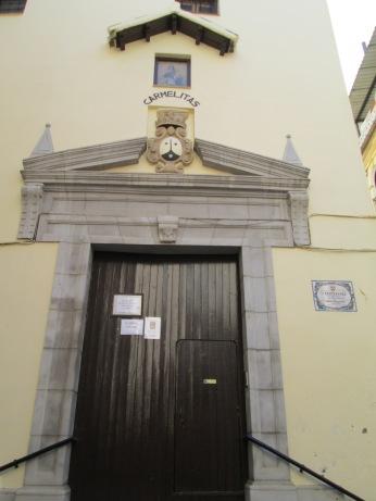 Portada del convento de las Carmelitas Calzadas. Realejo. Granada. Foto: Francisco López