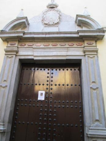 Portada de la Capilla. Carmelitas calzadas. Realejo. Granada. Foto: Francisco López