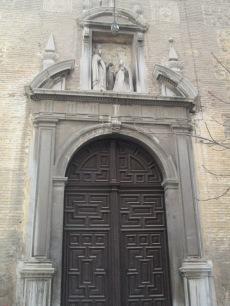 Portada lateral La Virgen y Santa Teresa. Carmelitas Descalzas Granada. Foto: Francisco López