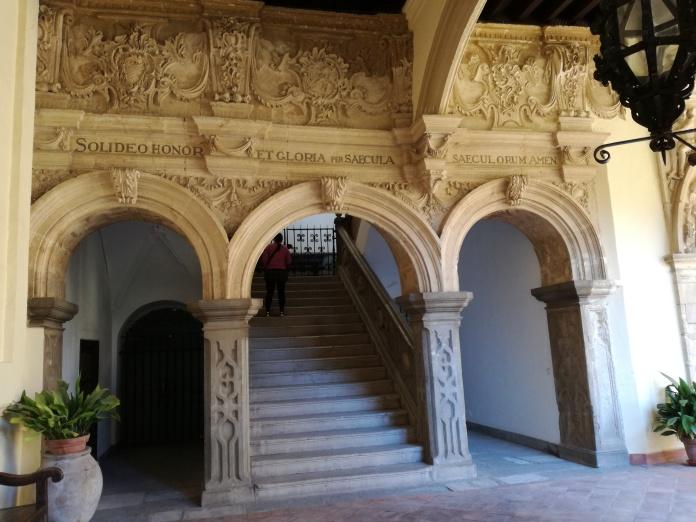 Monasterio de San Jerónimo. Portada de la escalera. Granada. Foto: Francisco López