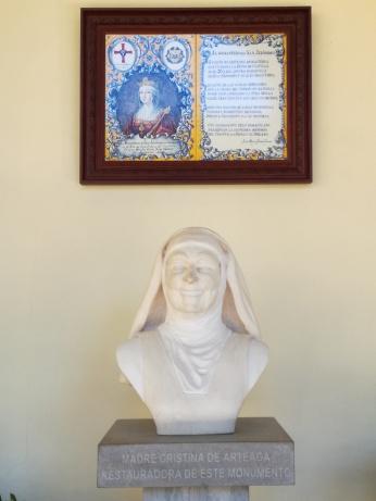 Busto de la Madre Cristina de Arteaga. Foto: Francisco López
