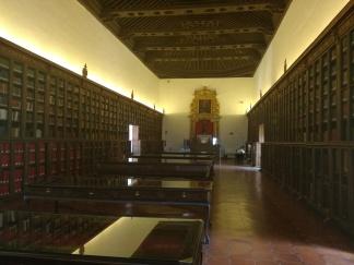 Hospital Real. Galería superior: Biblioteca. Granada. Foto: Francisco López