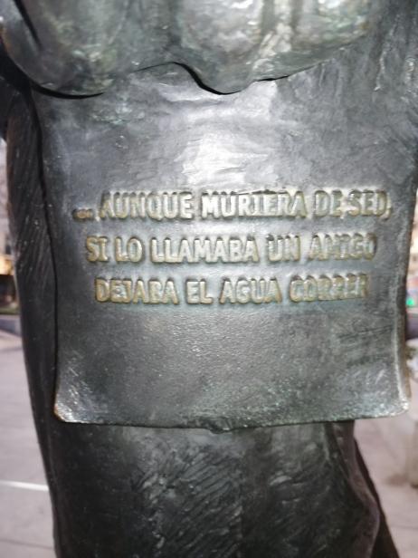 Manuel Benítez Carrasco. Detalle. Foto: Francisco López